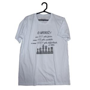 Camiseta Xadrez jogo arte e ciência
