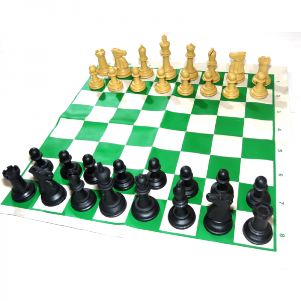 Jogo de peças de xadrez profissional e tabuleiro