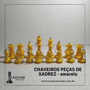 Kit Chaveiros peças de xadrez coloridos