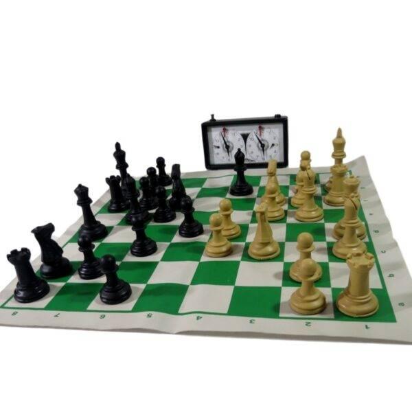 Kit Jogo de peças de xadrez profissional + Relógio Analógico