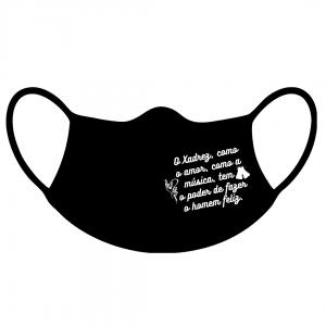 Kit Máscaras Xadrez, Amor e Música
